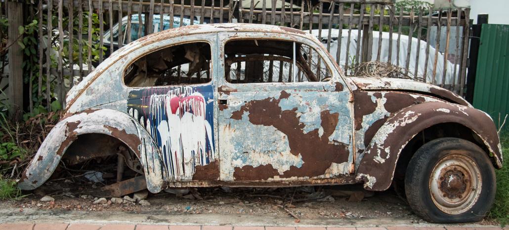 Volkswagen - der Lack ist ab.